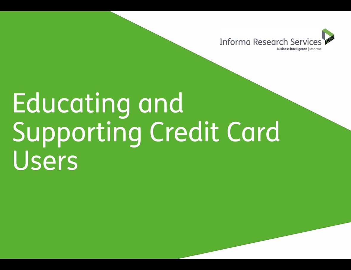 Educating and Supporting Credit Card Users