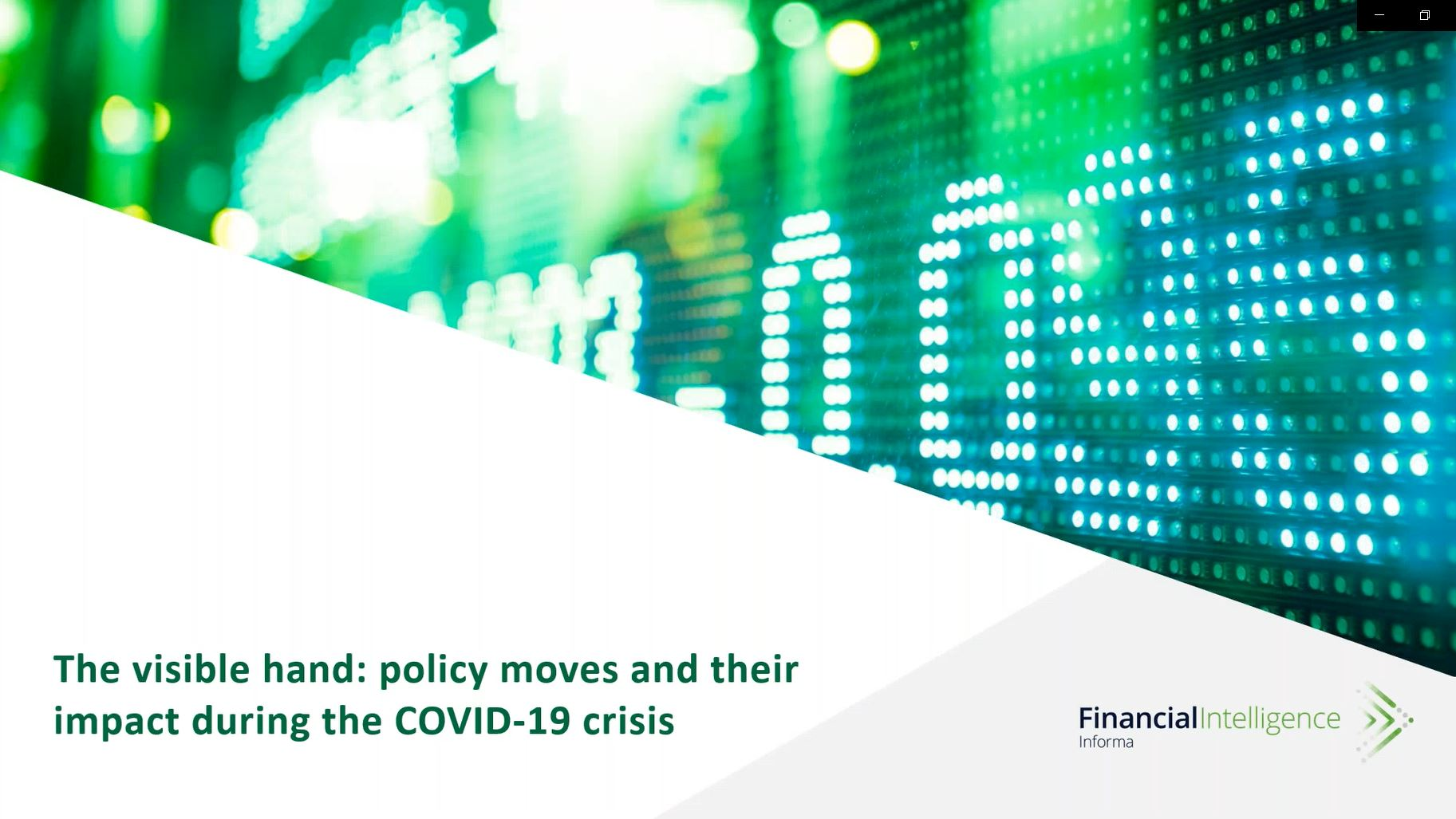 The visible hand: policy moves and their impact during the COVID-19 crisis