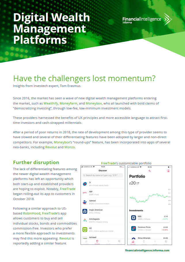 Have digital investment challengers lost momentum?