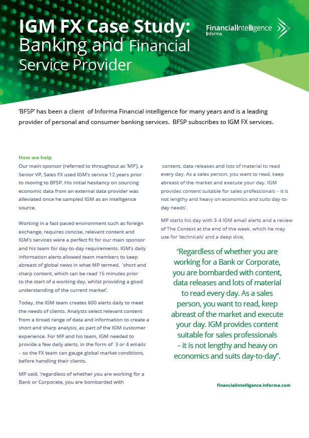 IGM FX Case Study: Banking and Financial Service Provider