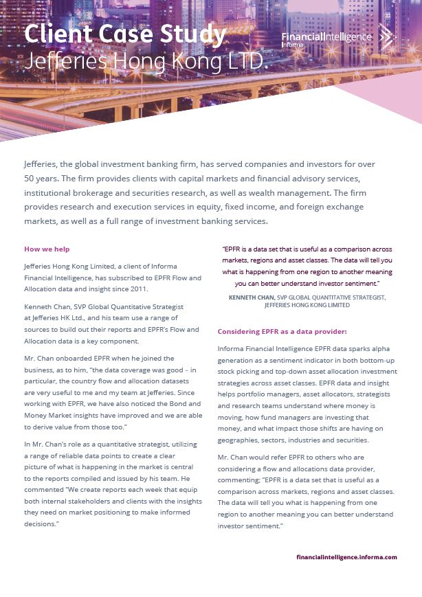 Jeffries Hong Kong LTD. Case Study