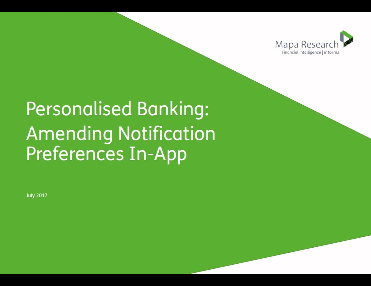 Personalised Banking: Amending Notification Preferences In-App