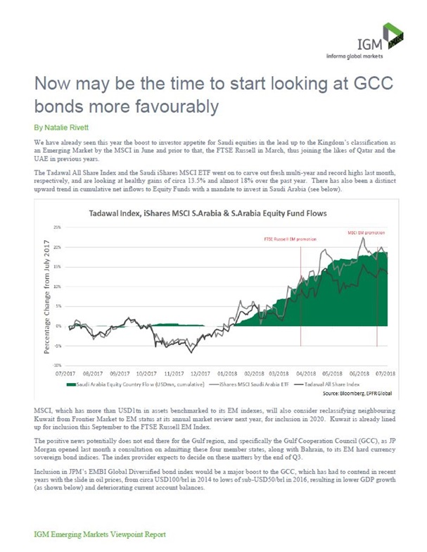 Now may be the time to start looking at GCC bonds more favourably